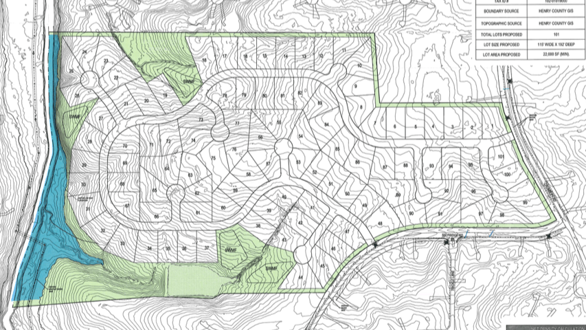 719 Crumbley Road subdivision site plan