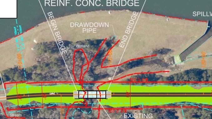 Map of Blackhall Road over Rum Creek bridge replacement