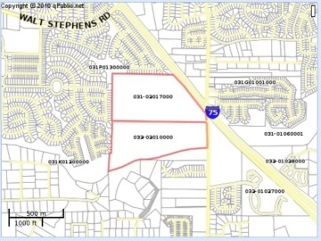 Map of the Flippen Road rezoning