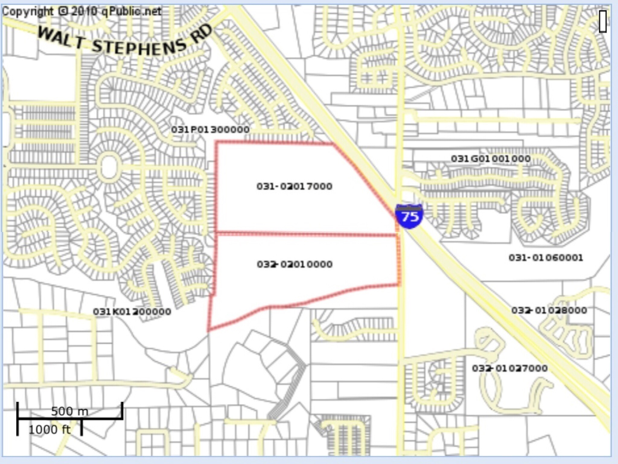 Site location for the Flippen Road requested rezoning