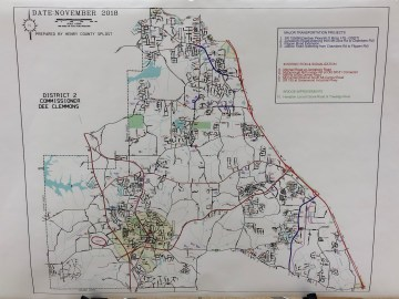 Map of possible SPLOST V projects in district II