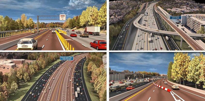 Concept photos for the Georgia 400 Express Lanes