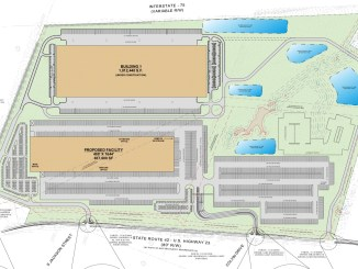 Gardner 42 industrial development site plan in Locust Grove