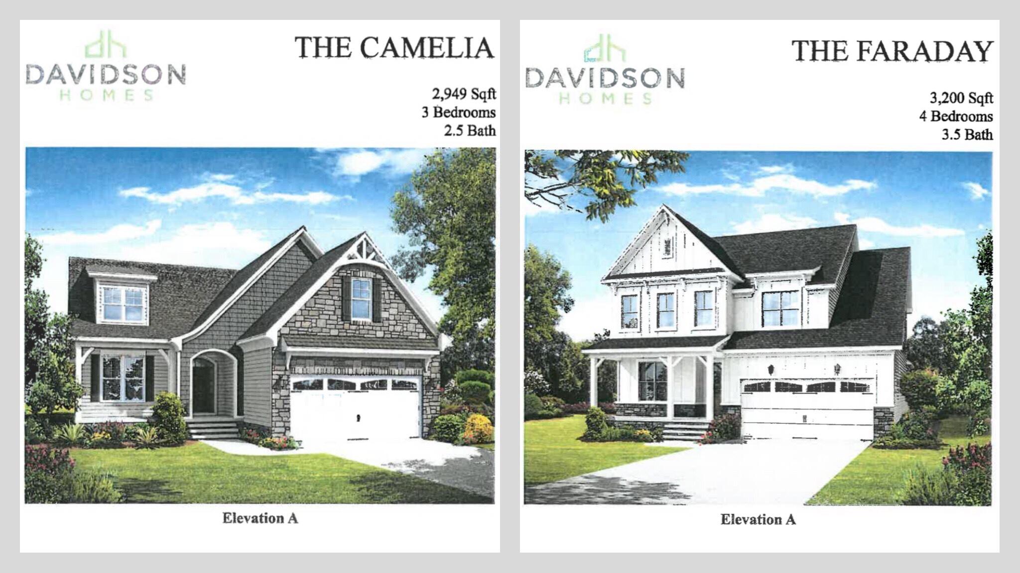 Concept front elevations for Stapleton Park subdivision (Davidson Homes photo)