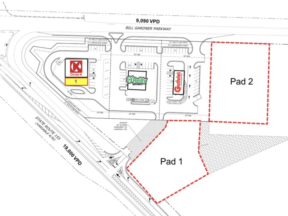 Site plan for Luella Crossing retail development