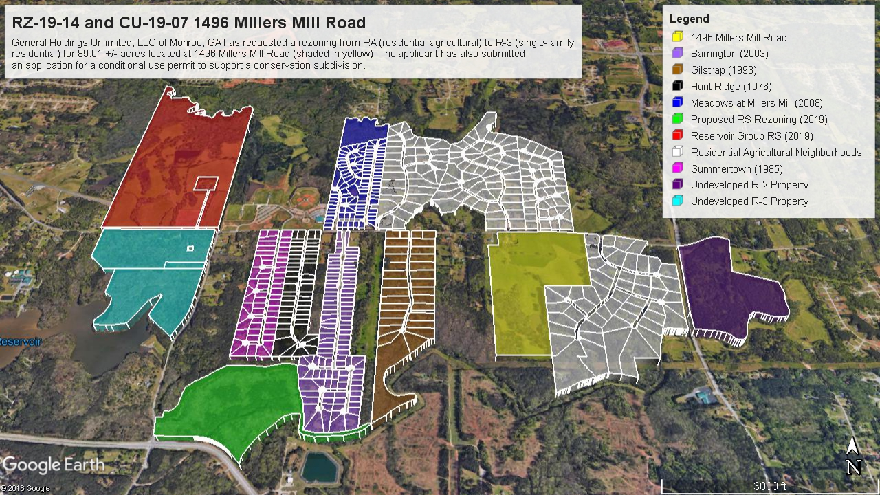 Development map of Millers Mill Road (staff photo)