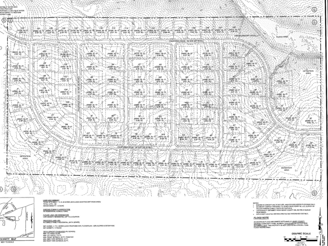 Concept site plan for Jones Drive subdivision