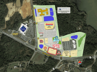 Site plan of Fischer Crossing development in Sharpsburg (SRS Real Estate photo)