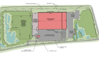 "Site plan for former Toys ""R"" Us warehouse in McDonough"