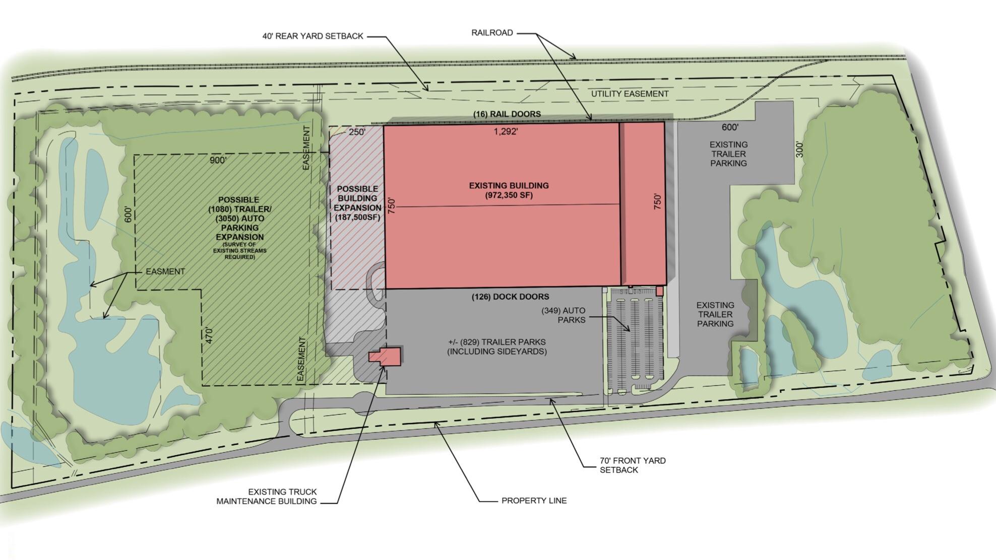 Site plan for 830 GA 42 S, McDonough (LRC Properties photo)