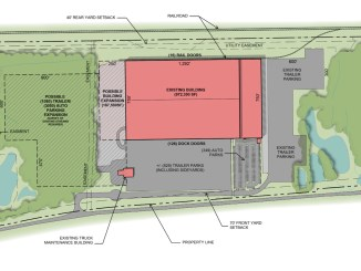 """Site plan for former Toys """"R"""" Us warehouse in McDonough"""