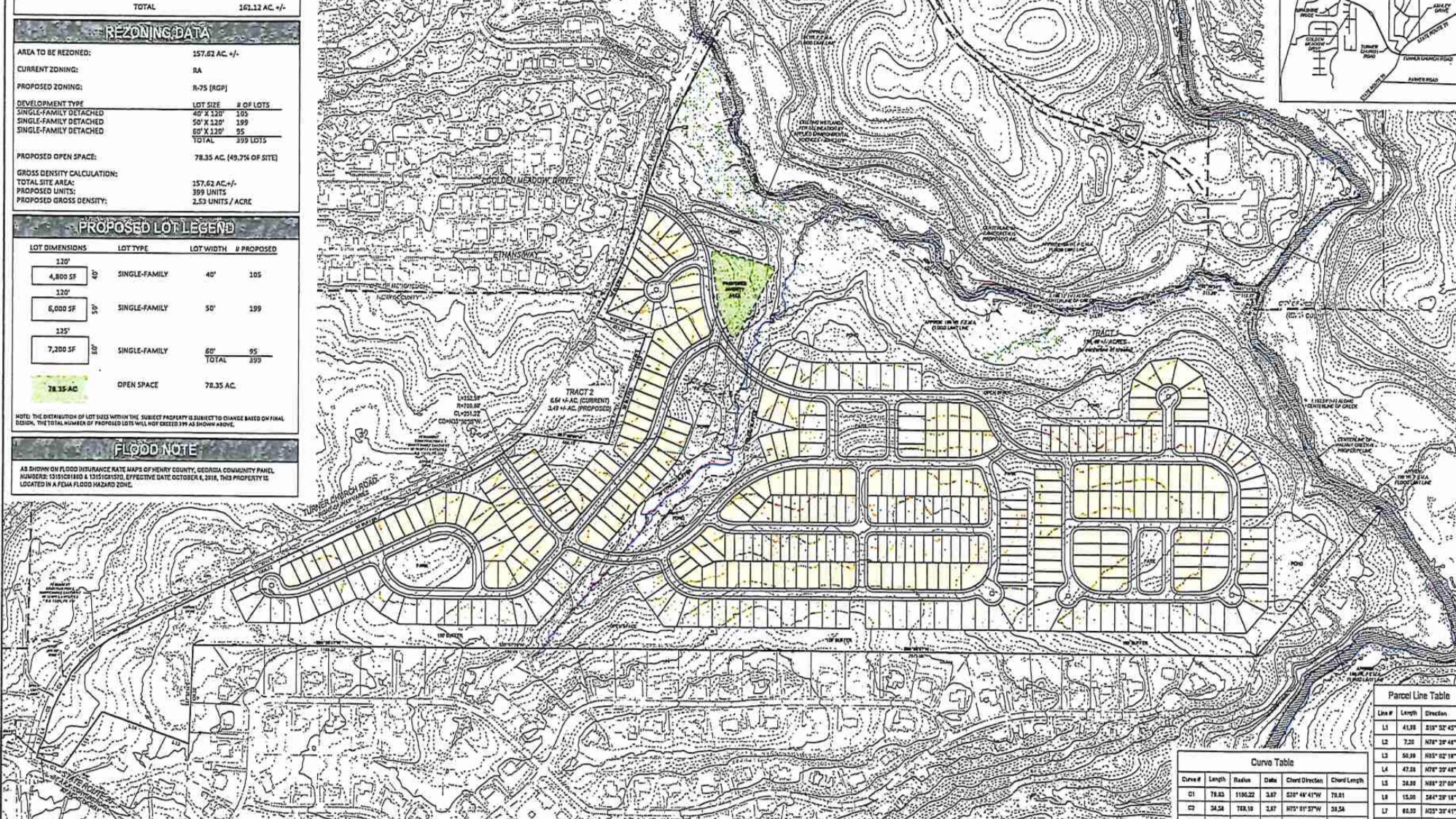 Concept site plan for 343 Turner Church Road residential development (applicant photo)