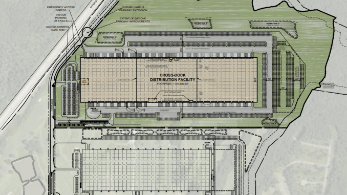 Concept site plan for Orchard Hills Business Park building 2 in Coweta County (applicant photo)