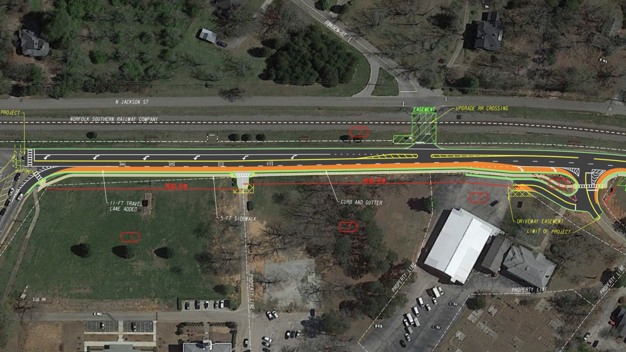 Concept photo of state route 42 widening in Locust Grove (Georgia DOT photo)