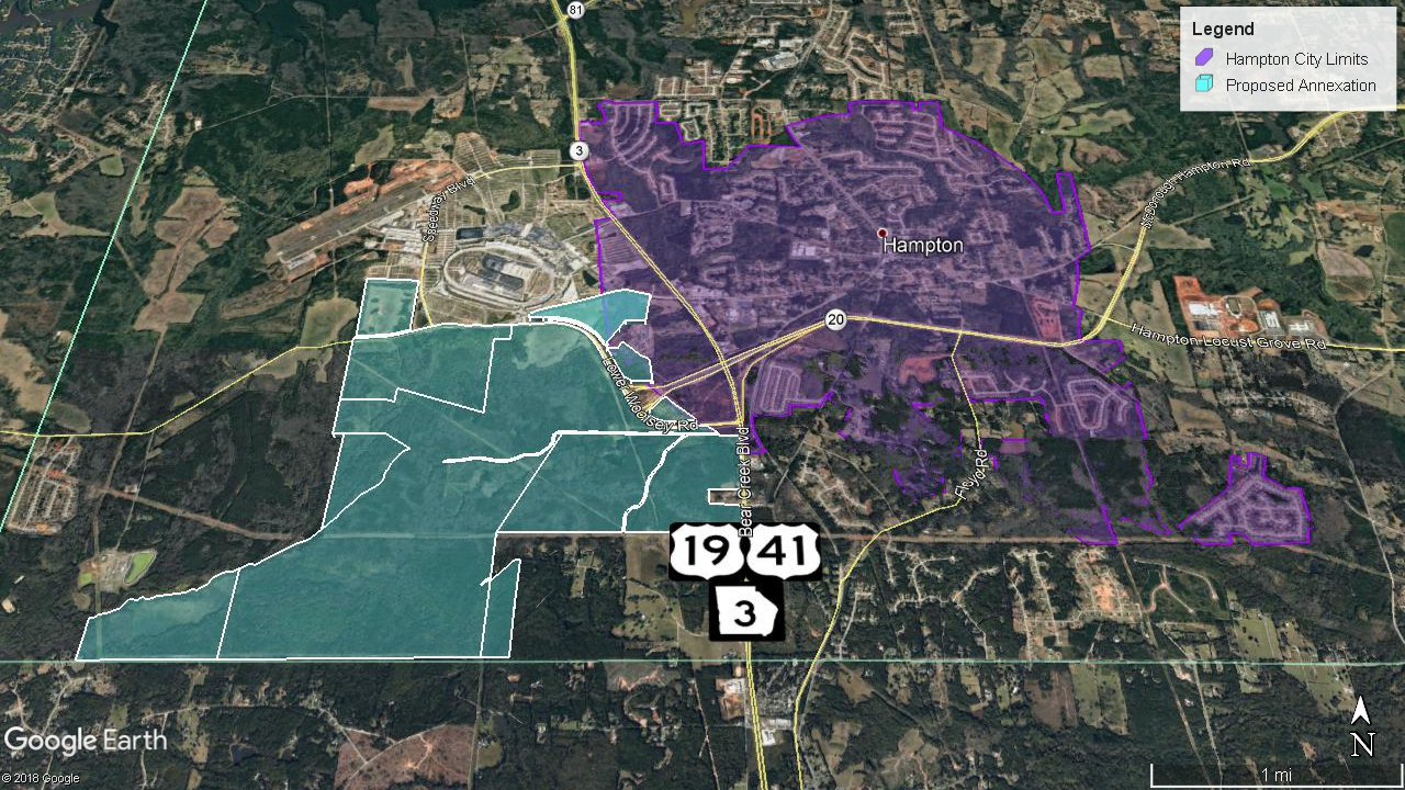 Hampton annexation map October 2019 (staff photo)
