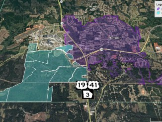 Map of proposed annexation in Hampton