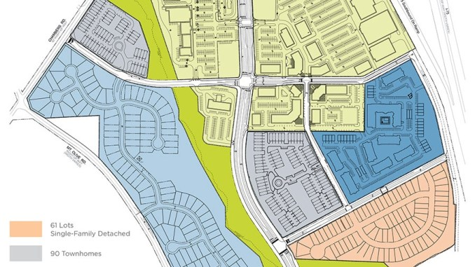 Site plan for Bridges at Jodeco development