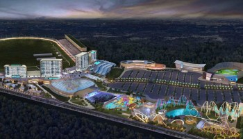 Photo showing proposed casino and destination resort at Atlanta Motor Speedway (AMS photo)