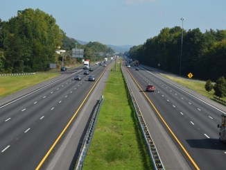 Photo of I-75 after resurfacing project in northwest Georgia in fall 2019 (Georgia DOT photo)