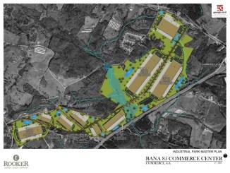 Site plan for Bana 85 Commerce Center in Commerce, GA (Rooker Co Photo)