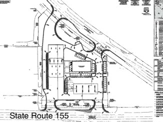 Site plan for proposed RaceTrac service station on State Route 155 (RaceTrac photo)