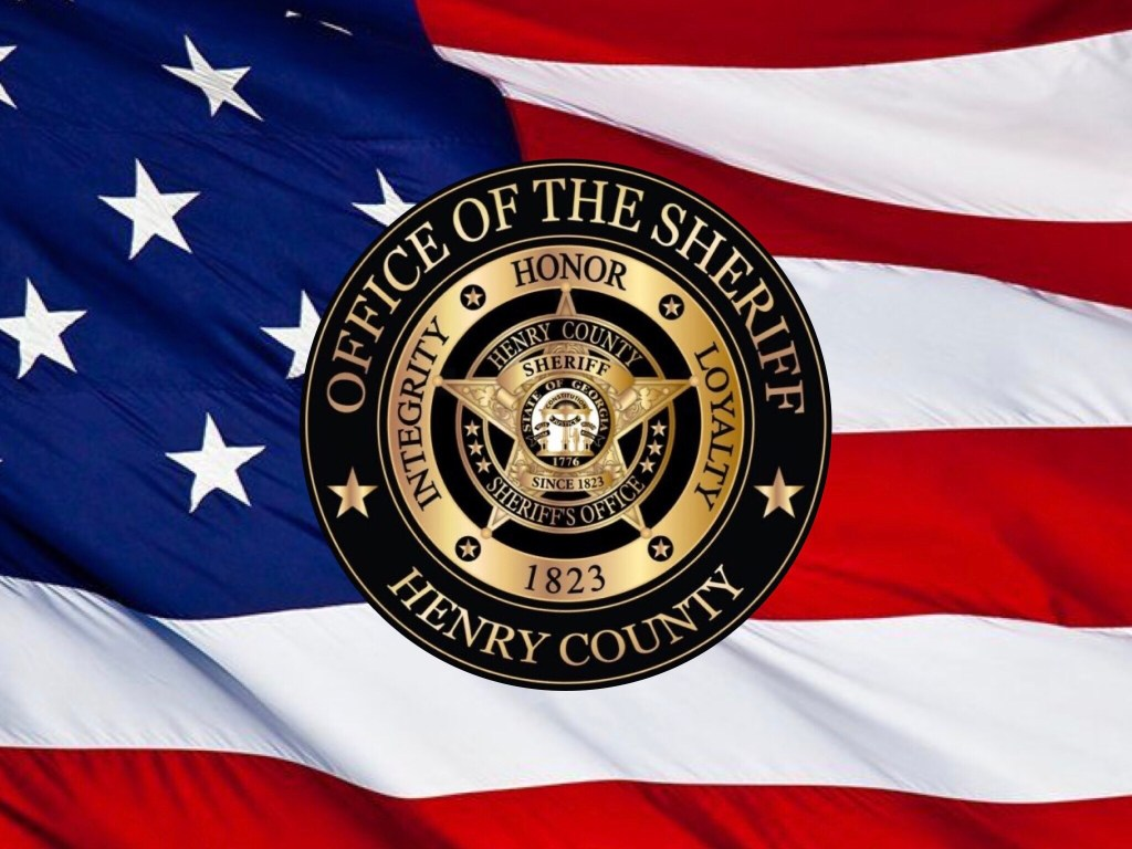 Photo of the American flag with the Sheriff's Department logo (special photo)