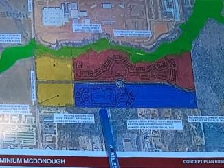 Concept site plan for McDonough Leased Housing Associates (Kimley-Horn photo)