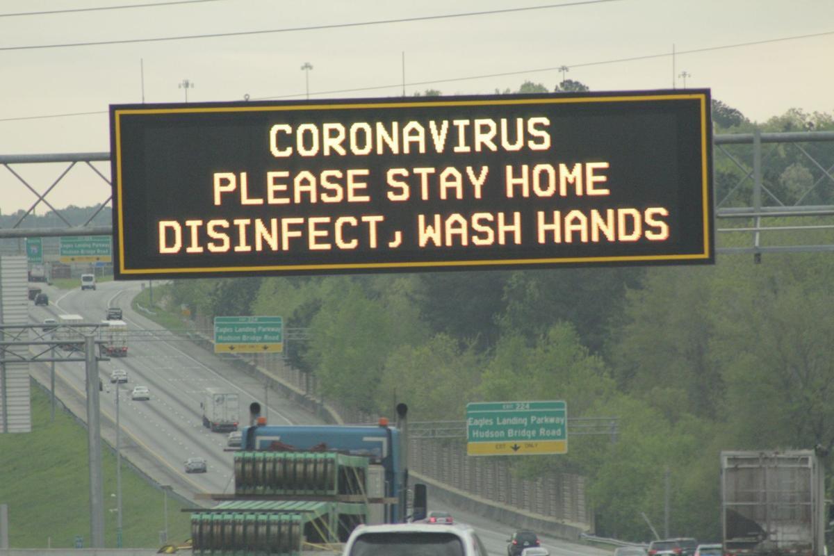 Photo of I-75 message sign (Clayton News Daily photo / Robin Kemp)