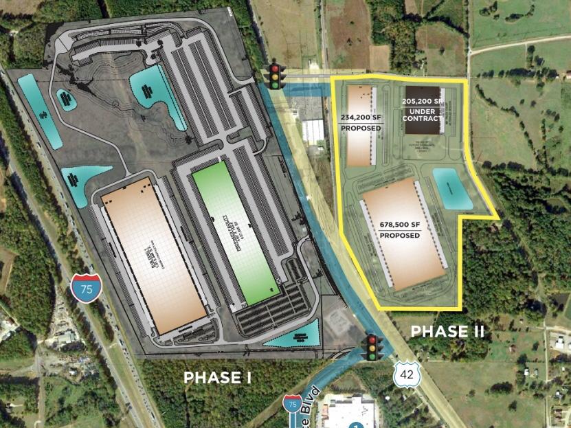 Site plan for Gardner Logistics Park (Scannell Properties photo)