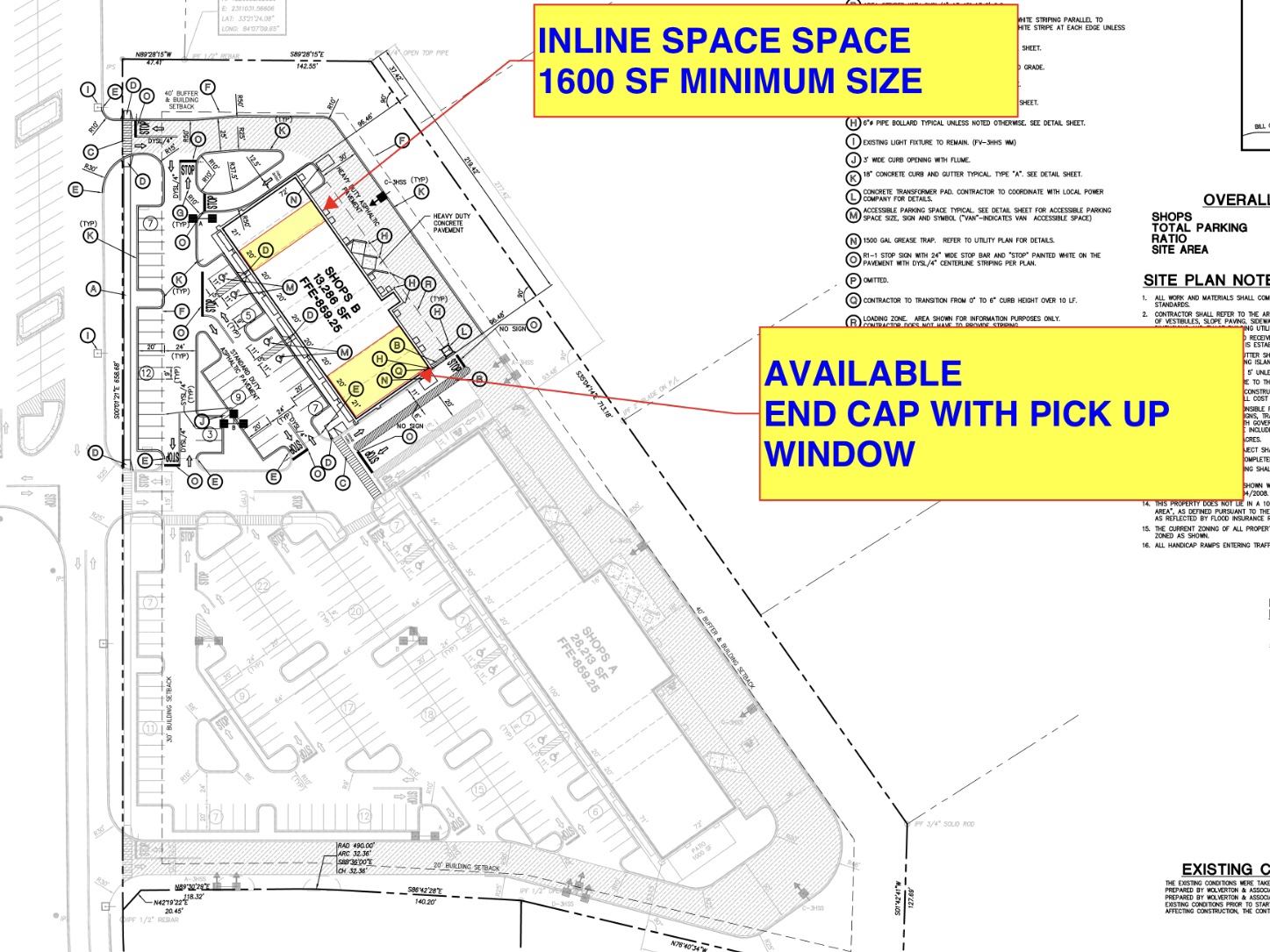 Site plan for The Marketplace at Locust Grove Shops (Wolverton & Associates photo)