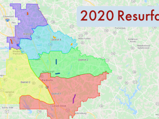 Map of 2020 resurfacing projects