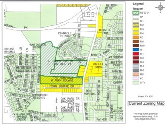 Current zoning map for SR 155 proposed RS development (Henry County photo)