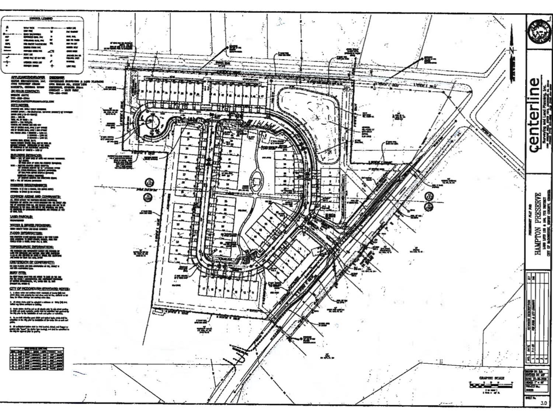 Preliminary plat for Hampton Street Townhomes (Manor Restorations LLC photo)