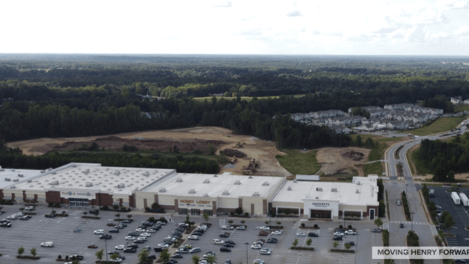 Aerial photo of Columns at South Point in September 2020 (staff photo)