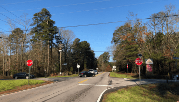 Photo of Bill Gardner Parkway at Lester Mill Road (special photo)
