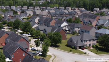 Aerial photo of McDonough subdivision (staff photo)
