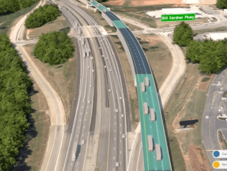 Photo of I-75 Commercial Vehicle Lanes Concept at Bill Gardner Parkway (Georgia DOT photo)