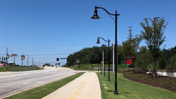 Photo of Jodeco Road pedestrian path lighting and multiuse path (staff photo)
