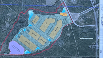 Site plan for Speedway Commerce Center (E&A photo)