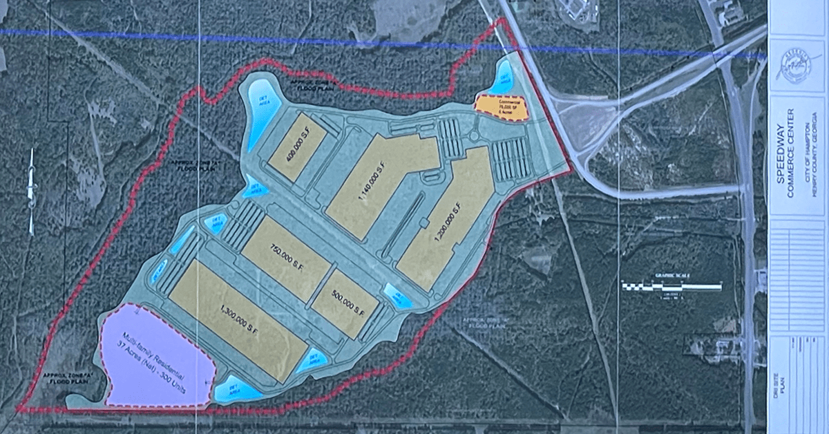 Concept site plan for Speedway Commerce Cented (E&A photo)