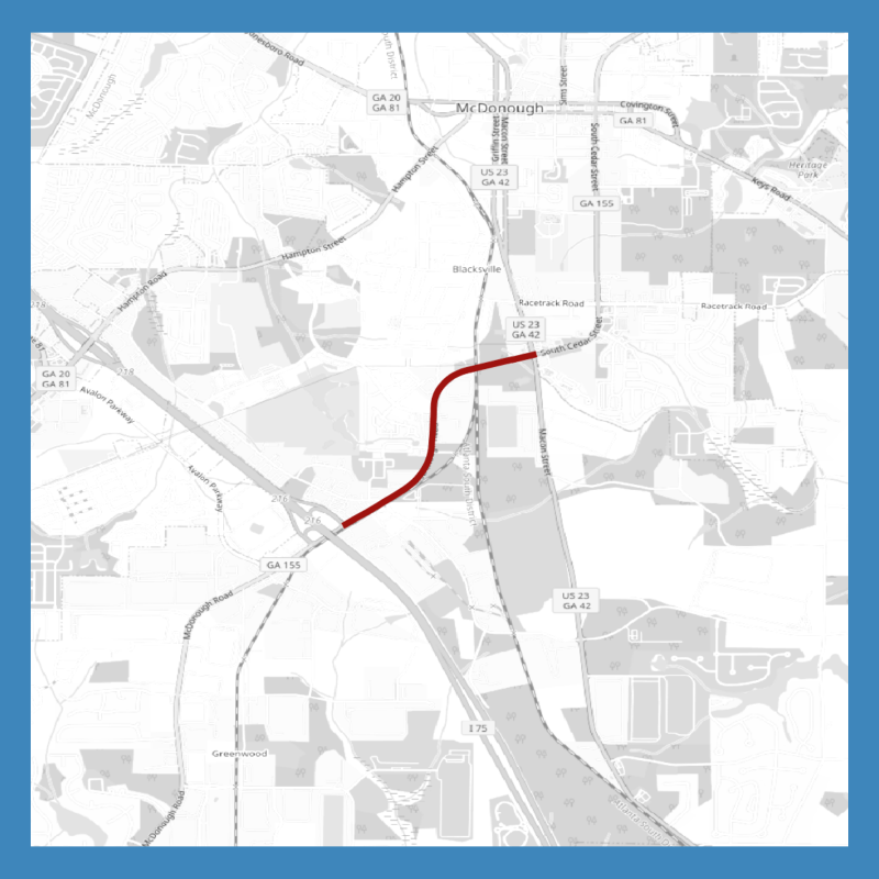 Map of SR 155 widening project between I-75 and US 23 / SR 42 (staff photo)