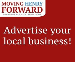 """Advertise your local business!"" on red background"