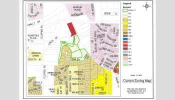 Current zoning map in the vicinity of Jodeco Road at Lewis Drive (Henry County photo)