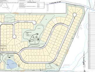 Concept layout for Brannan Road subdivision south of North Salem Drive (Moore Bass Consulting photo)