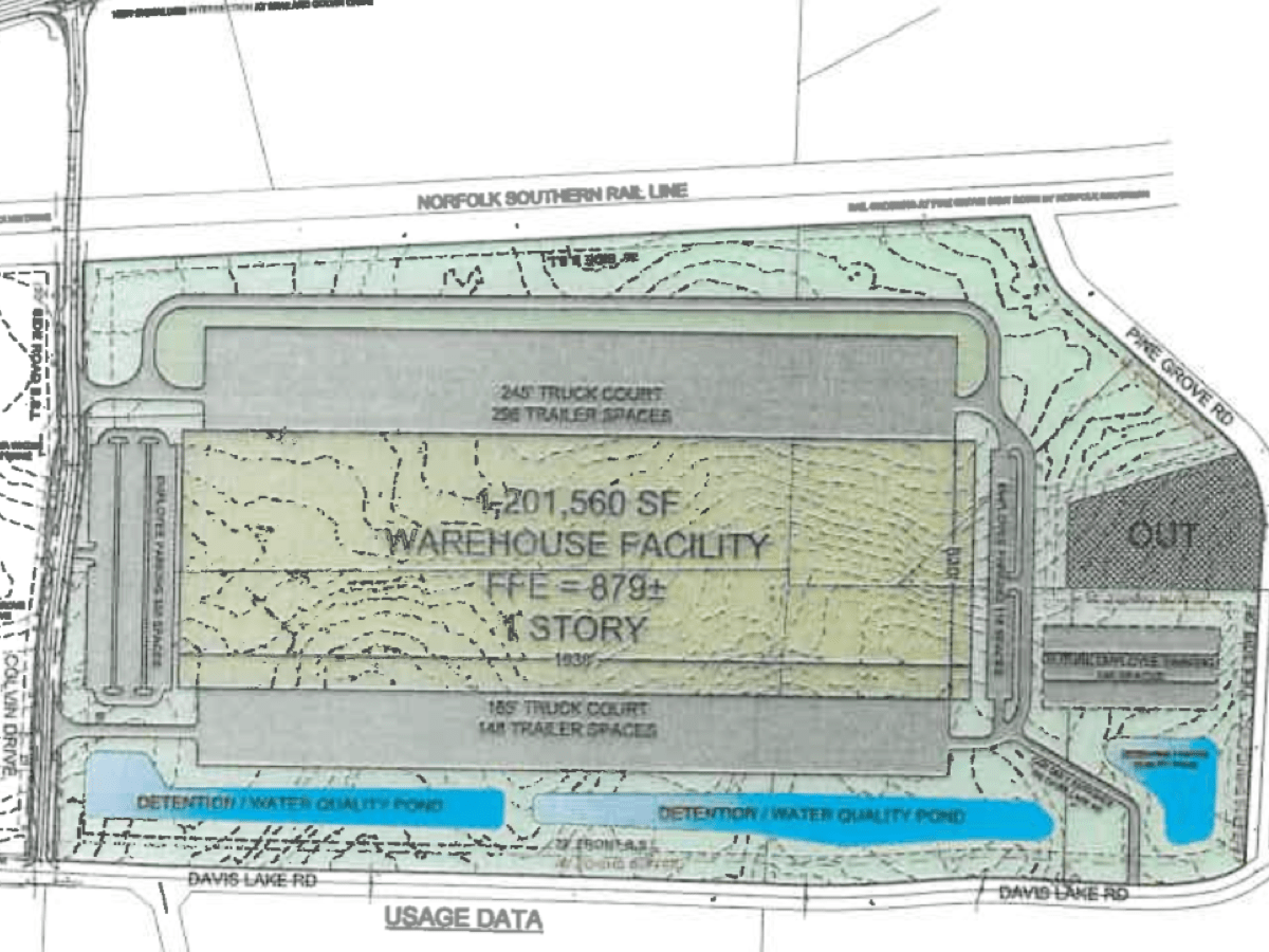 Concept layout for Gardner Logistics Park Phase III (E&A photo)