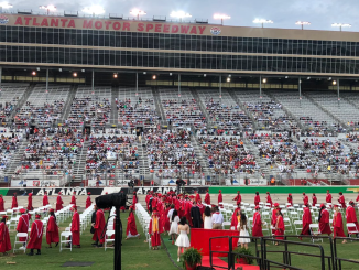 Photo shows graduation ceremony in 2021 at Atlanta Motor Speedway (special photo)