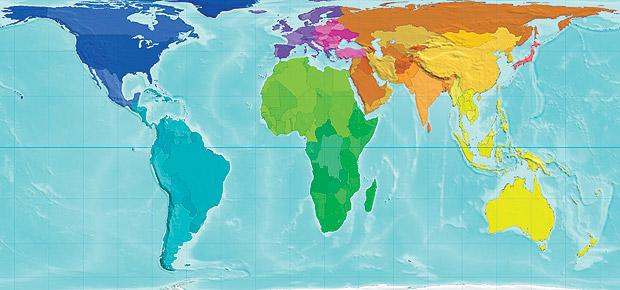 Our world depicted by each country's land area