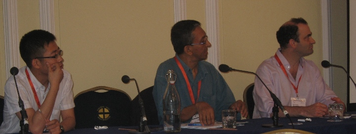 Covering a disaster from Sichuan to Sri Lanka: L to R: Hujun Li, Nalaka Gunawardene and Richard Stone