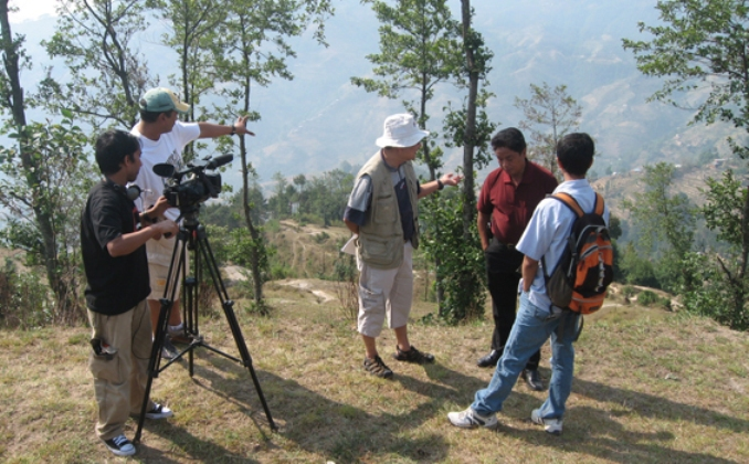 Location filming Saving the Planet in Nepal