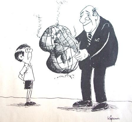 Passing the buck? Cartoon by W R Wijesoma